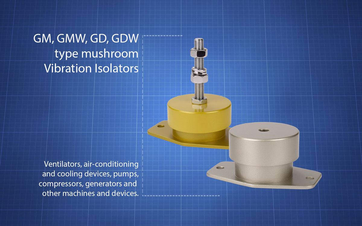 GM-GMW-GD-GDW-muchrom-type-vibration-isolators
