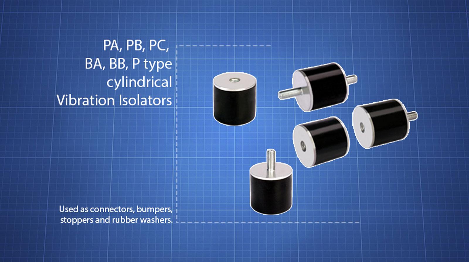 PA PB PC BA BB P-type-Vibration-Isolators