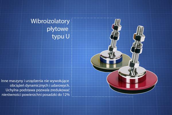 Wibroizolatory płytowe typu U