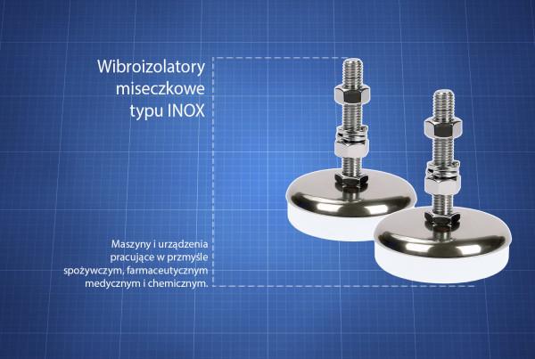 Wibroizolatory typu INOX