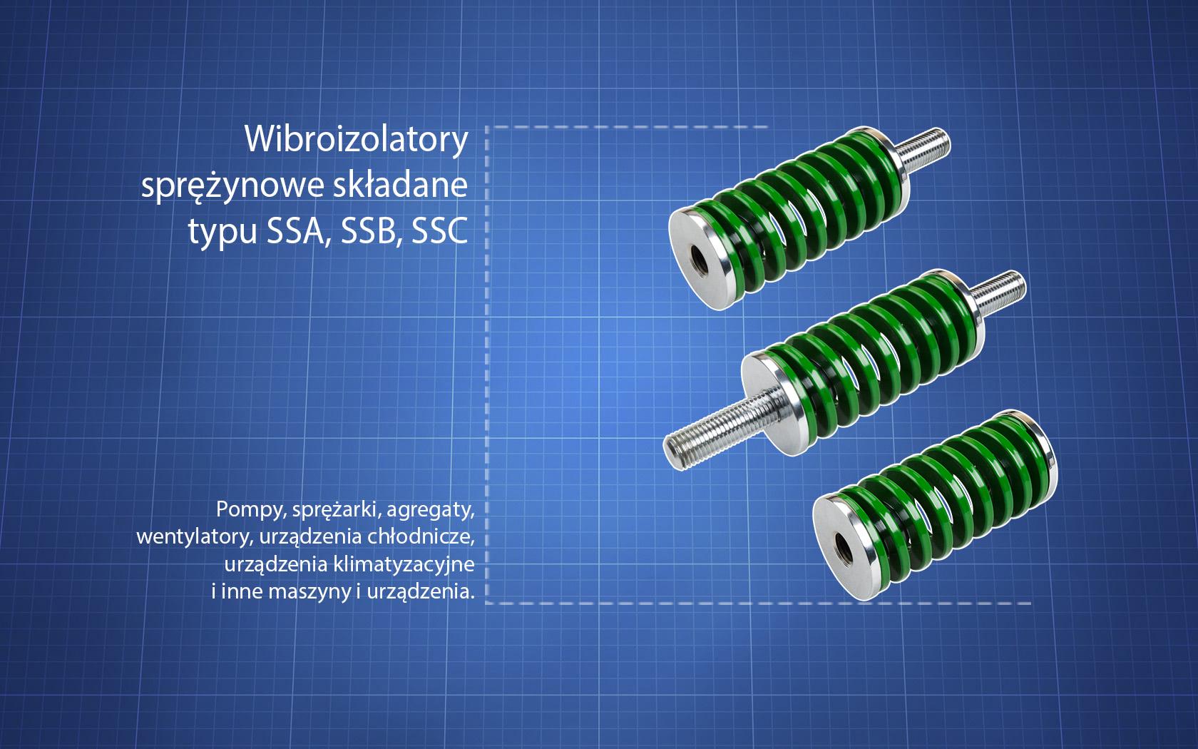Wibroizolatory typu SSA, SSB i SSC