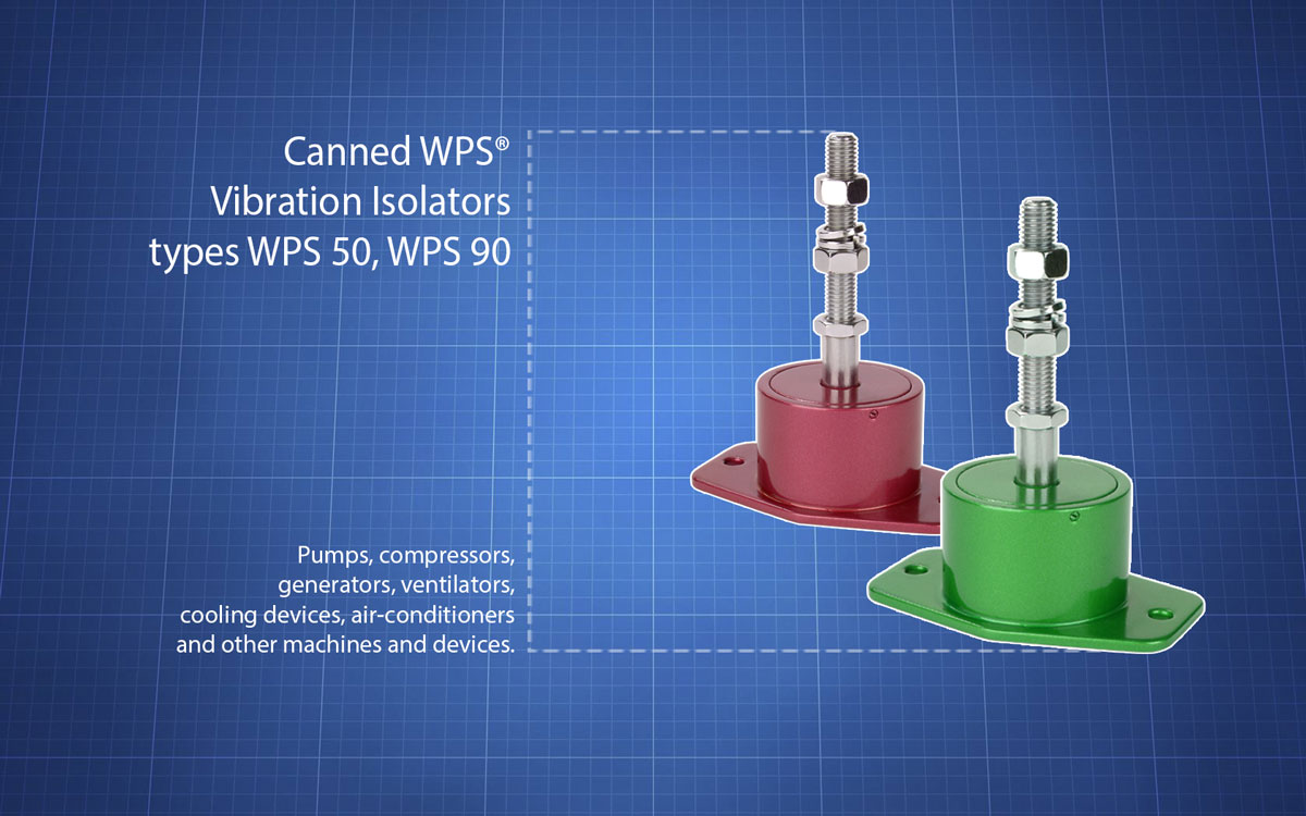 Canned WPS® vibration isolators types WPS 50, WPS 90